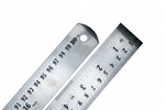 "Ruler, 100cm/36"" Stainless Steel Ruler with Metric & Imperial Markings & Conversion Table. X1065"